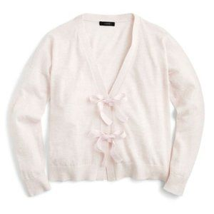 NWT light pink J Crew Bow-Front cropped cardigan